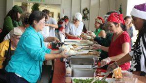 Photo of buffet line