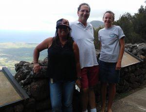 Photo of Lani, Brian, and Kathleen at Kalaupapa Lookout