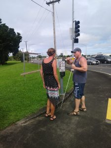 Photo of Kathleen and Rob at cross signal