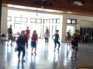 Photo of group doing the Zumba