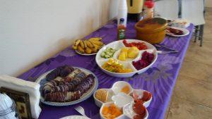 Photo of food at mixed group meeting