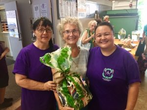 Photo of Lisa, Roxanne, and the winner of our gift basket giveaway