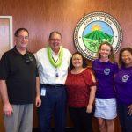 Photo of Brian, Mayor Victorino, Roxanne, Kathleen, and Lani