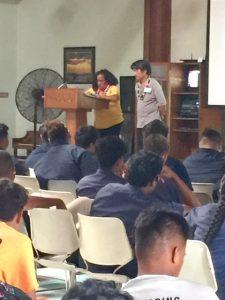 Photo of Jasmine speaking at Job Corps presentation
