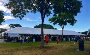 Photo of Oahu Charity Walk welcome tent